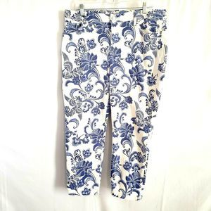 Chico's So Slimming Girlfriend Paisley Pants Sz 3
